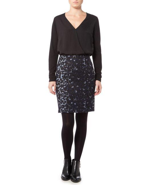 inwear leopard print skirt in blue lyst