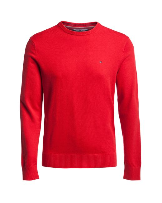 Tommy Hilfiger | Red Pima Cotton-cashmere Jumper for Men | Lyst