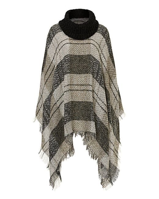 Betty Barclay | Gray Fringed Blanket Poncho | Lyst