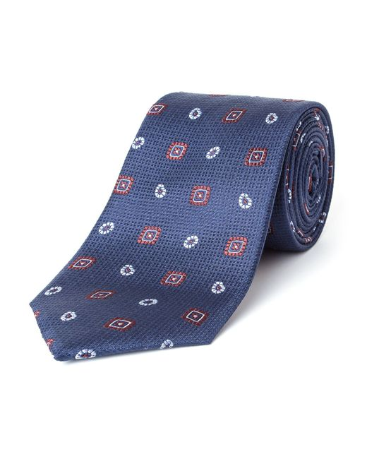 Bäumler | Blue Martel Motif Silk Tie for Men | Lyst