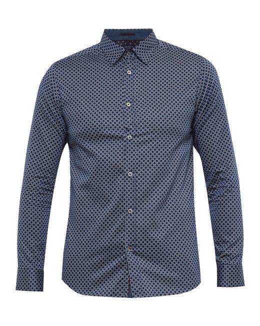 Ted Baker | Blue 'hangup' Modern Slim Fit Sport Shirt for Men | Lyst