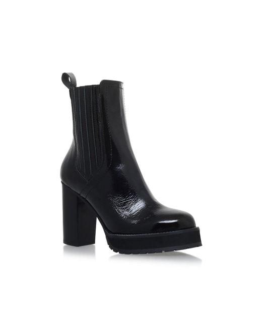 KG by Kurt Geiger   Black Storm High Heel Ankle Boots   Lyst