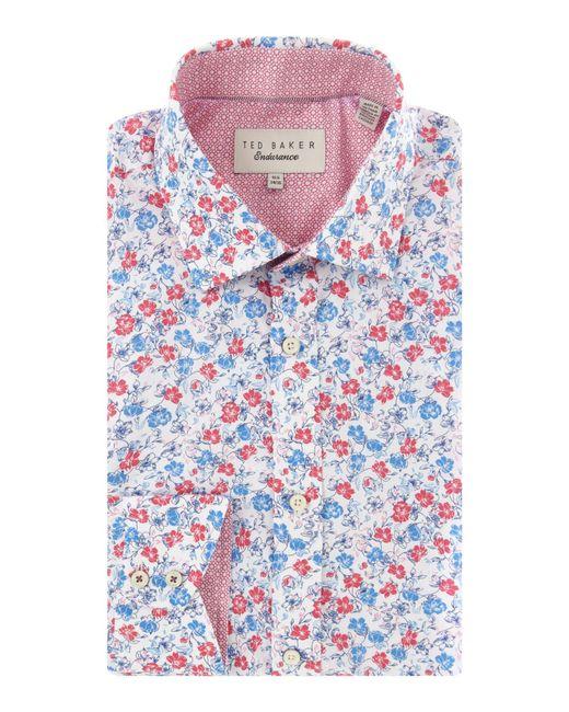 Ted baker leone floral shirt in pink for men lyst for Ted baker floral shirt