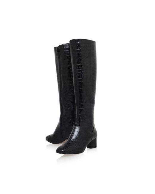 kurt geiger dita zip up knee high boots in black lyst