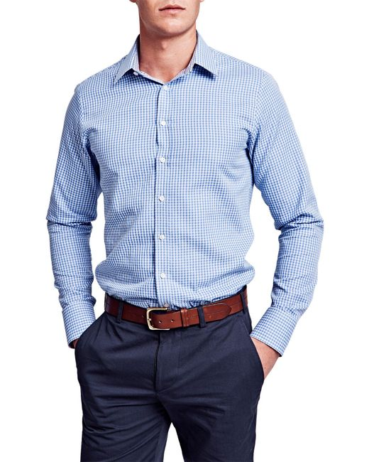 Thomas Pink Pauling Check Super Slim Fit Shirt In Blue For