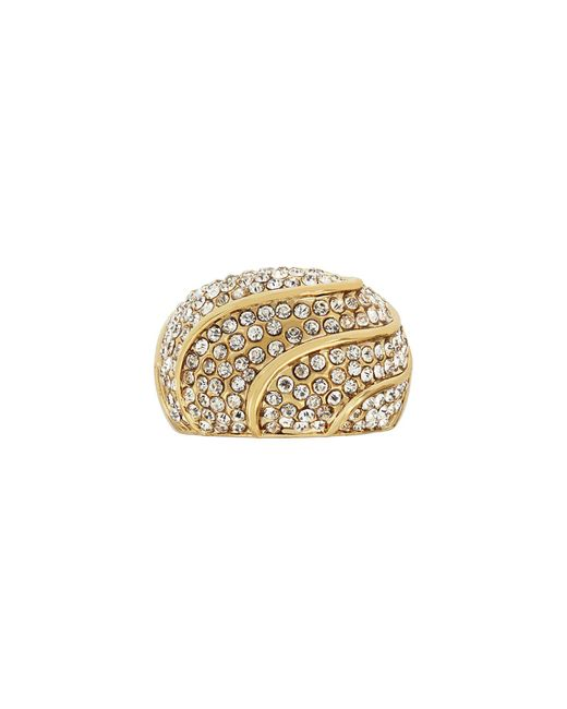 Aurora Flash | Metallic Gold Plated Crystal Dome Ring | Lyst