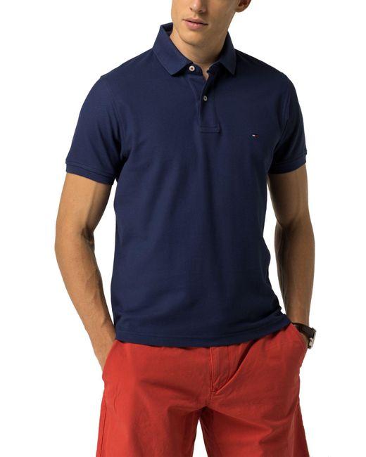 tommy hilfiger luxury slim fit polo in blue for men lyst. Black Bedroom Furniture Sets. Home Design Ideas