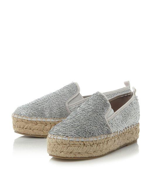 Steve Madden Poppi Sm Slip On Sequin Espadrille Shoes In