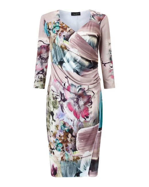 James Lakeland | Purple Side Pleat Dress | Lyst