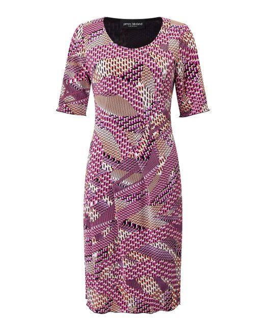 James Lakeland | Pink Printed Cut Pleat Dress | Lyst