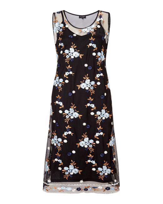 James Lakeland | Blue Embroidered Midi Dress | Lyst