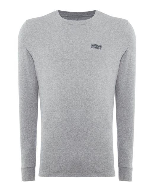 Barbour | Gray Long Sleeve International Logo Tee for Men | Lyst