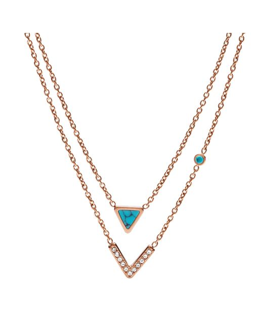 Fossil | Metallic Jf02644791 Ladies Necklace | Lyst