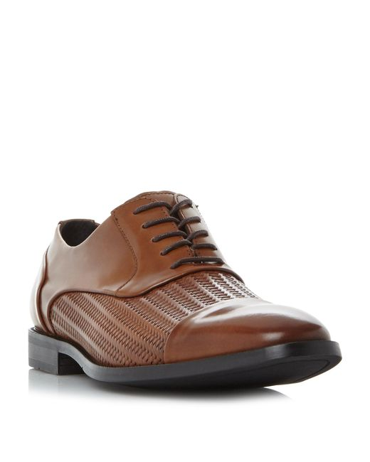 Kenneth Cole - Brown Ticket Balance Weave Detail Formal Shoe for Men - Lyst