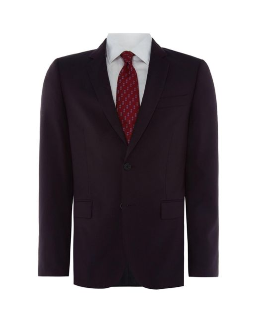 PS by Paul Smith Multicolor Mohair Wool Single Breasted Slim Fit Suit Jacket for men