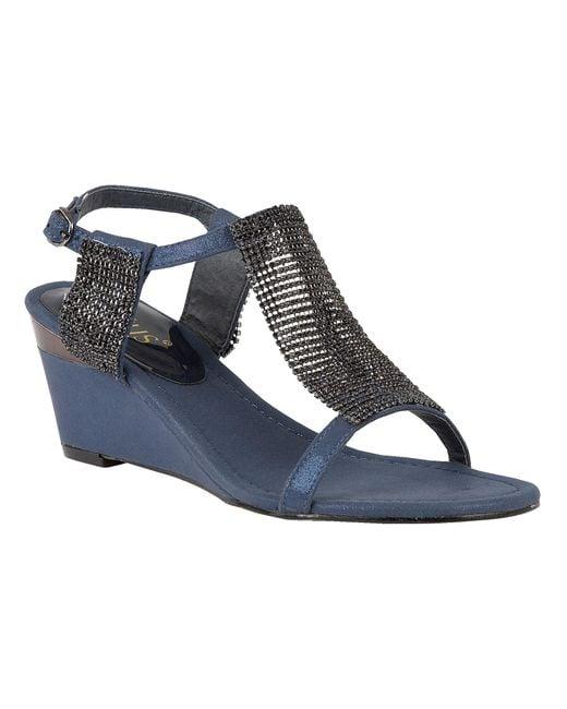 Lotus - Blue Klaudia Wedge Sandals - Lyst
