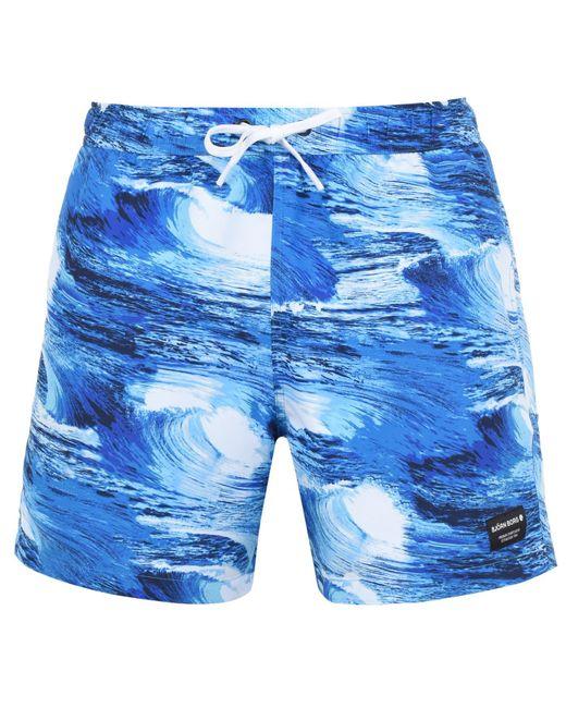 Björn Borg Blue Bjorn Wave Swim Shorts for men