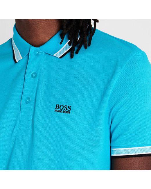 BOSS by Hugo Boss Blue Paddy Polo Shirt for men