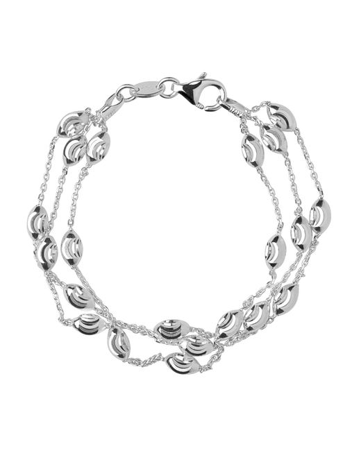Links of London - Metallic Beaded Chain 3 Row Bracelet-m - Lyst