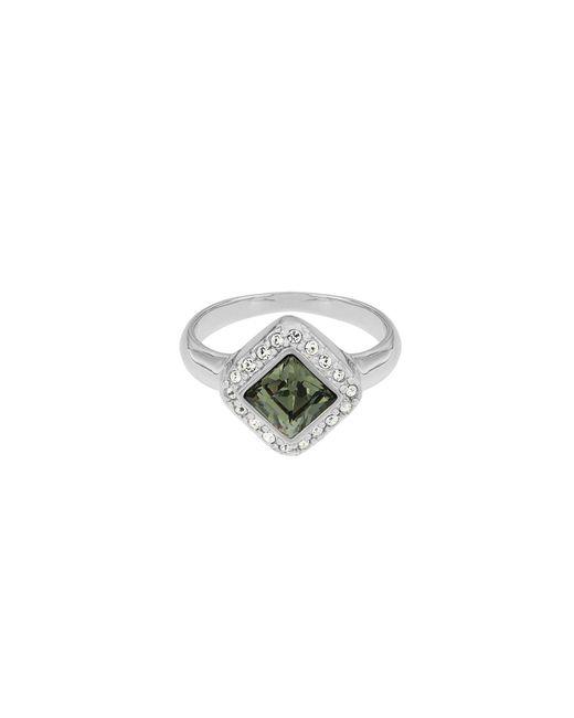 Aurora Flash | Metallic Rhodium Plated Princess Cut Crystal Ring | Lyst