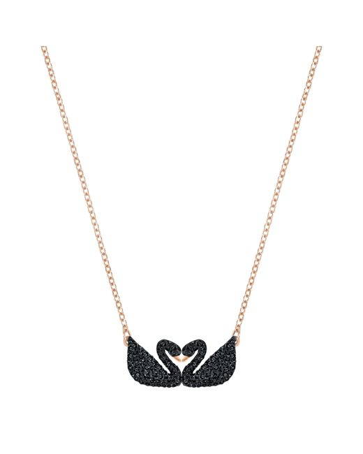 Swarovski | Metallic Iconic Swan Double Necklace | Lyst