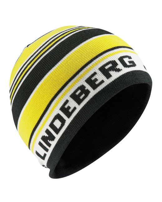 J.Lindeberg | Yellow Acrylic Mix Beanie Hat for Men | Lyst