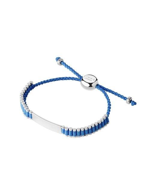 Links of London - Id Friendship Bracelet, Blue - Lyst