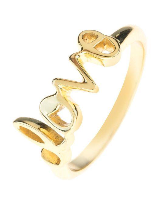 Latelita London - Metallic Love Ring Gold - Lyst