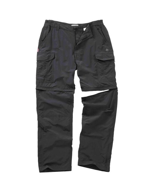 Craghoppers Gray Nosilife Convertible Trousers for men
