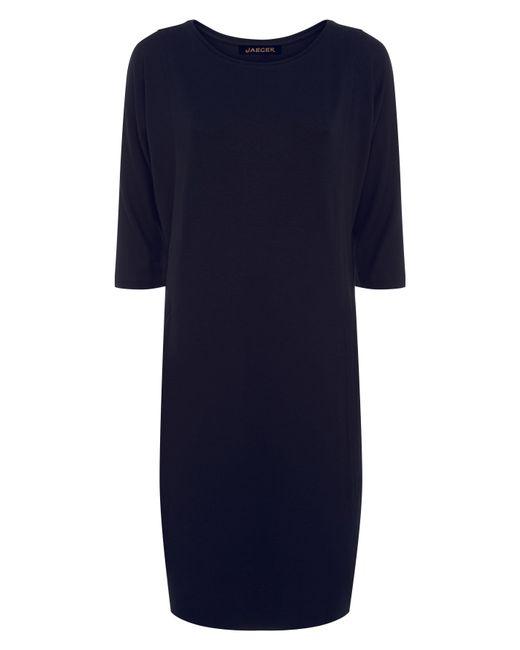 Jaeger | Blue Jersey Seamed Detail Dress | Lyst