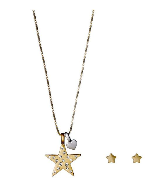 Pilgrim - Metallic X-mas Set Gold And Silver Plated Crystal - Lyst