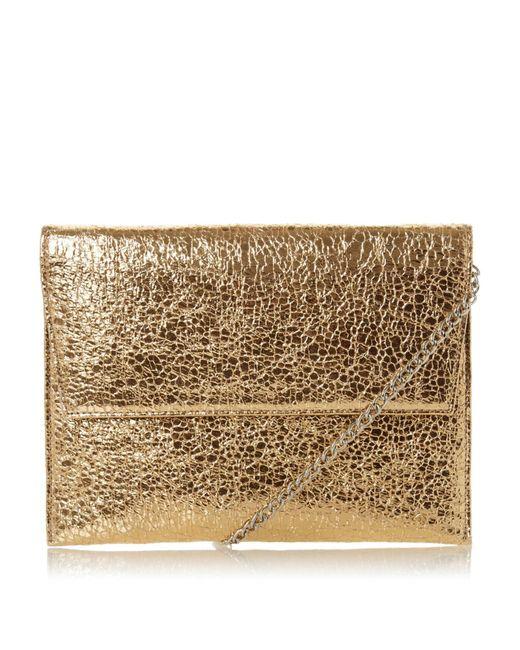 Dune Metallic Baili Envelope Clutch Bag