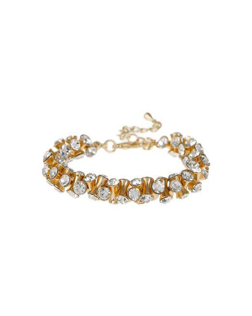 Mikey - Metallic Cubic Dumbell Beads Elastic Bracelet - Lyst