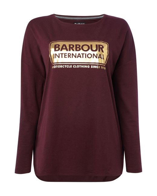 Barbour | Purple Exclusive Mallory Short Sleeves Tee | Lyst