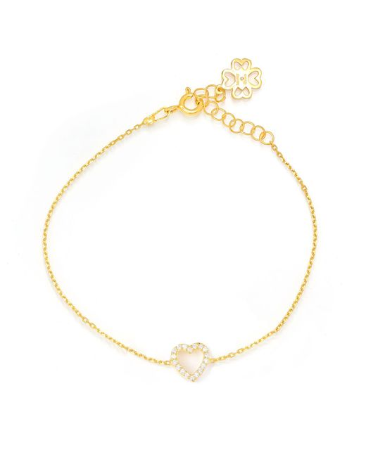 Lucky Eyes | Metallic Gold Frame Heart Bracelet | Lyst