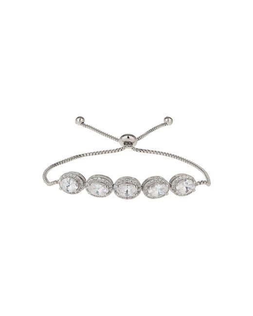 Mikey | White Oval Cubic Spike Beads Tie Up Bracelet | Lyst