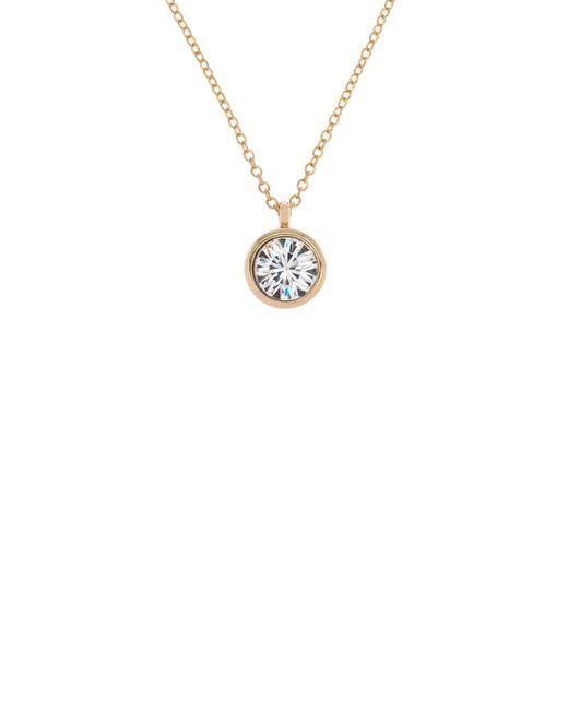 Karen Millen - Metallic Gold & Crystal Dot Necklace - Lyst