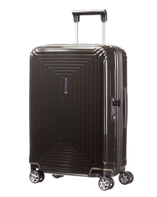 Samsonite | Neo Pulse Metallic Black 4 Wheel 55cm Cabin Case for Men | Lyst
