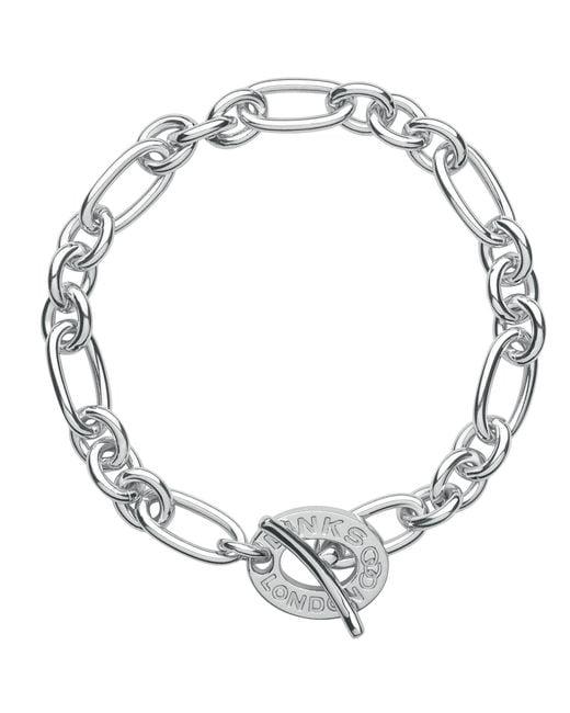Links of London   Metallic Signature Charm Chain Bracelet   Lyst