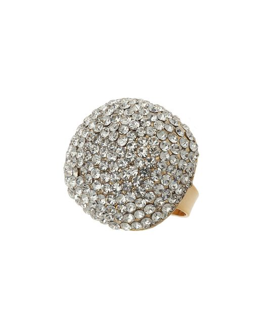 Mikey - Metallic Large Square Ring - Lyst