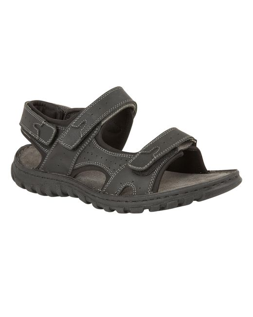 Lotus - Black Quigley Rip Tape Sandals - Lyst