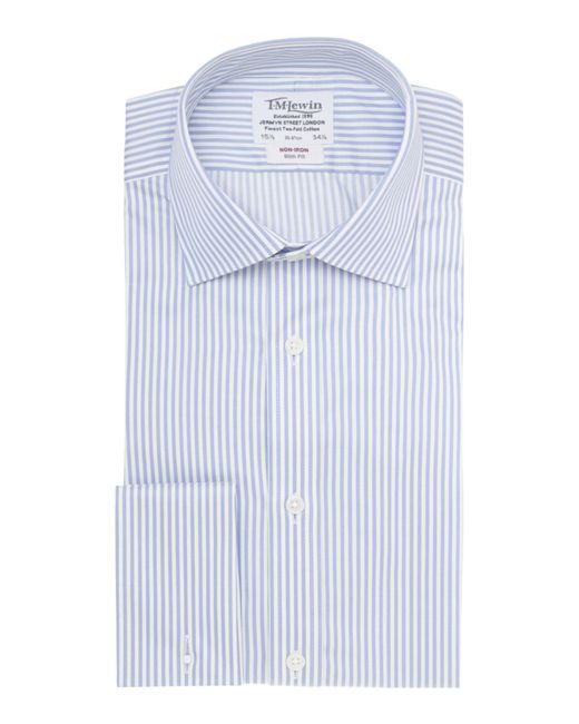 Tm Lewin | Blue Bengal Stripe Slim Fit Long Sleeve Formal Shirt for Men | Lyst