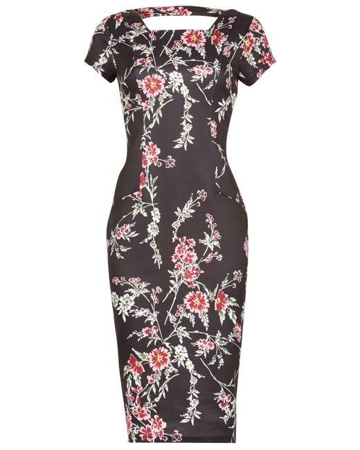 Izabel London   Multicolor Floral Print Midi Dress   Lyst