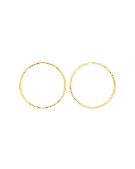 Azendi | Metallic Gold Plated Silver Hoops 5cm | Lyst