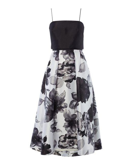 JS Collections | Black Mikado Halter Dress | Lyst