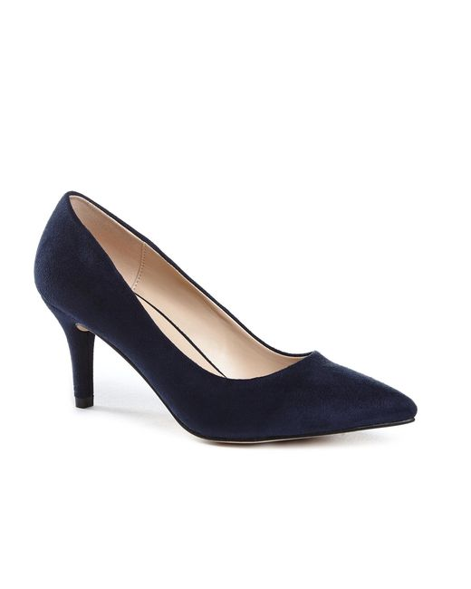 Paradox London Pink | Blue Elisa Mid Heel Court Shoes | Lyst