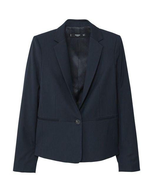 Mango | Purple Patterned Suit Blazer | Lyst