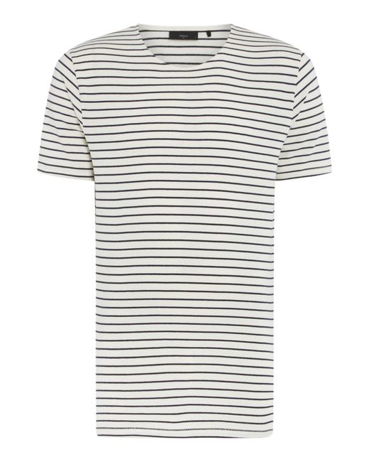 Minimum - White Striped Crew Neck T-shirt for Men - Lyst