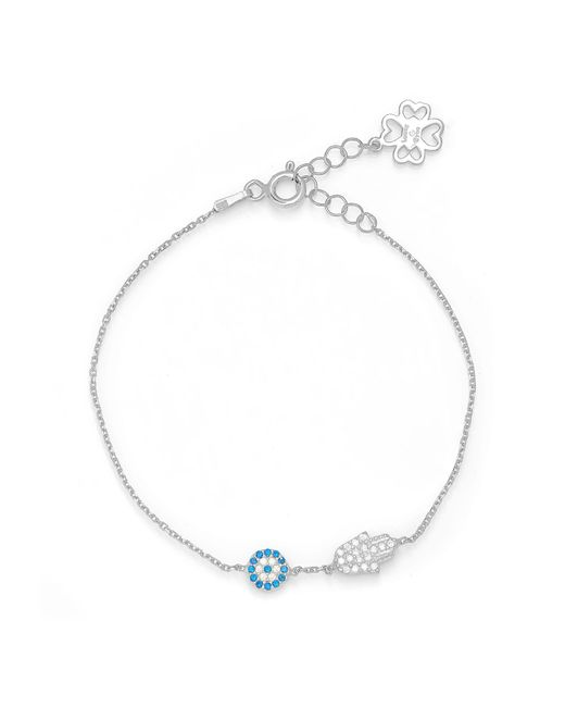 Lucky Eyes | Metallic Silver Mini Hand&eye Bracelet | Lyst