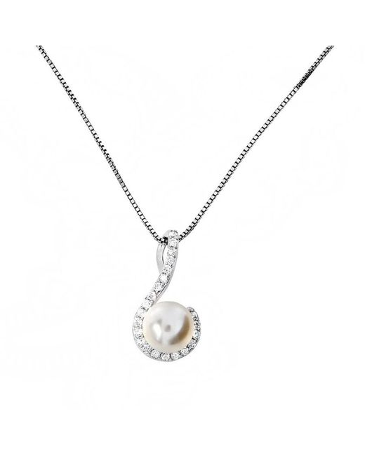 Azendi Metallic Sterling Silver And Pearl Pendant